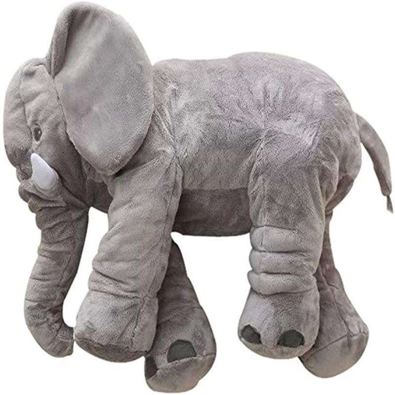 40-80 см большой плюшевый слон Подушка Мягкие плюшевые игрушки для малышей Удобная подушка детская кровать мягкий спальный подушка под спину ...