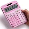 Com calculadora de voz bonito coreano doce cor pouco fresco calculadora computador grandes chaves contabilidade financeira especial menina rosa