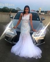 Sequin African Girl Graduation Elegant Long Prom Dresses 2019 Mermaid