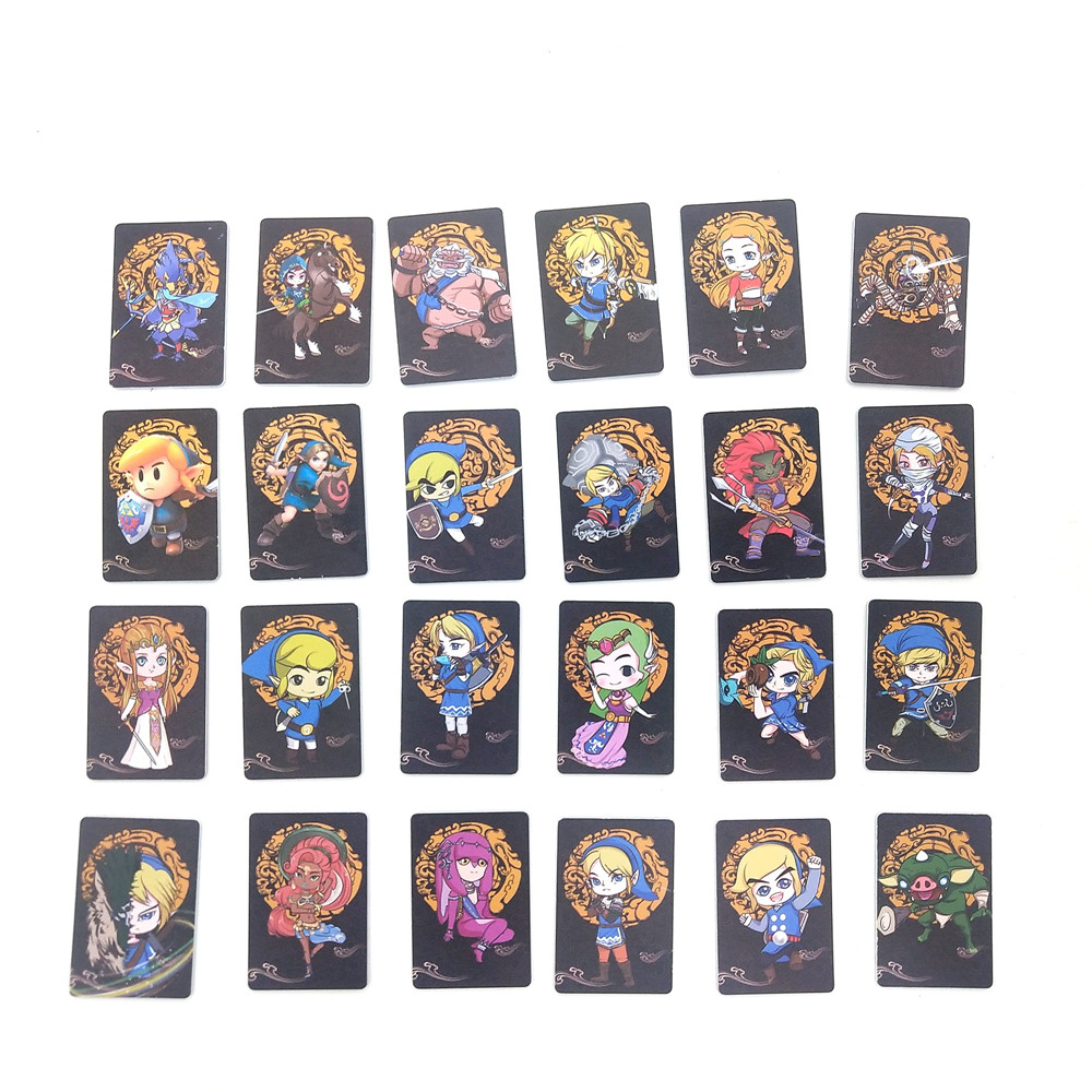 24pcs/lot Zelda <font><b>Card</b></font> NS Game <font><b>Switch</b></font> TAG Mini Standard <font><b>Card</b></font> For <font><b>amiibo</b></font> Ntag215 <font><b>NFC</b></font> <font><b>Card</b></font> 2019 New Data Young Link Fast Shipping image