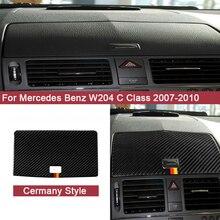 цена на Carbon Fiber Durable Car Sticker for Mercedes Benz W204 C Class 2007-2010 Auto Accessories Car Navigation Panel Decal Trim Cover