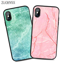 Marble Case on For скорлупа phone 6 6s Soft TPU Back Cover iphone 6S 7 8 Plus X XR MAX Phone
