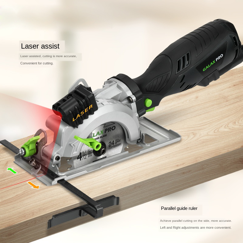 Handheld electric circular saw mini chainsaw fine handle design portable household woodworking power tools