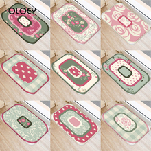 40 * 60cm Flower Pattern Non slip Suede Soft Carpet Door Mat Kitchen Living Room Floor Mat Home Bedroom Decorative Floor Mat  ..