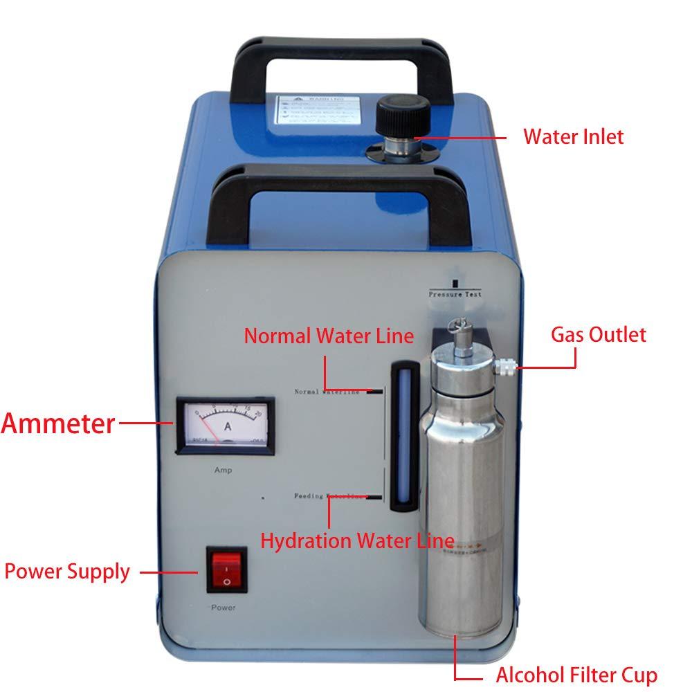 75L 160H Flamme Polierer kit Acryl Polieren Ausrüstung Sauerstoff Wasserstoff Wasser Welder Bench polieren und finishing metall streifen