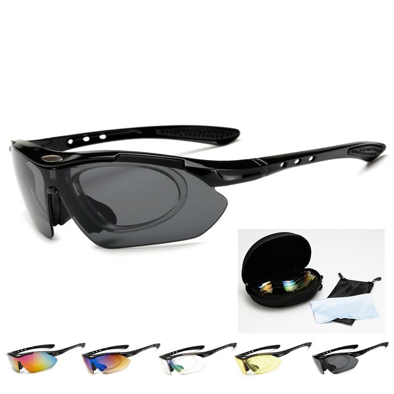 Polarized Cycling Glasses Outdoor Sports Bicycle Glasses Men Women Bike sun glasses Sunglasses 30g Goggles Eyewear 5 Lens Cycling Eyewear     - title=