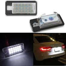 LED Error libre número luz de placa de licencia lámpara Auto para Audi A3 A4 S4 RS4 B6 B7 A6 RS6 S6 C6 A5 S5 2D Cabrio Q7 A8 S8 RS4 Avant