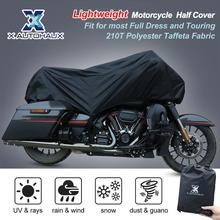 X AUTOHAUX  Motorcycle Half Cover 210T Universal All Season Waterproof Dustproof Rain Dust UV Protector Motorcycle Bike