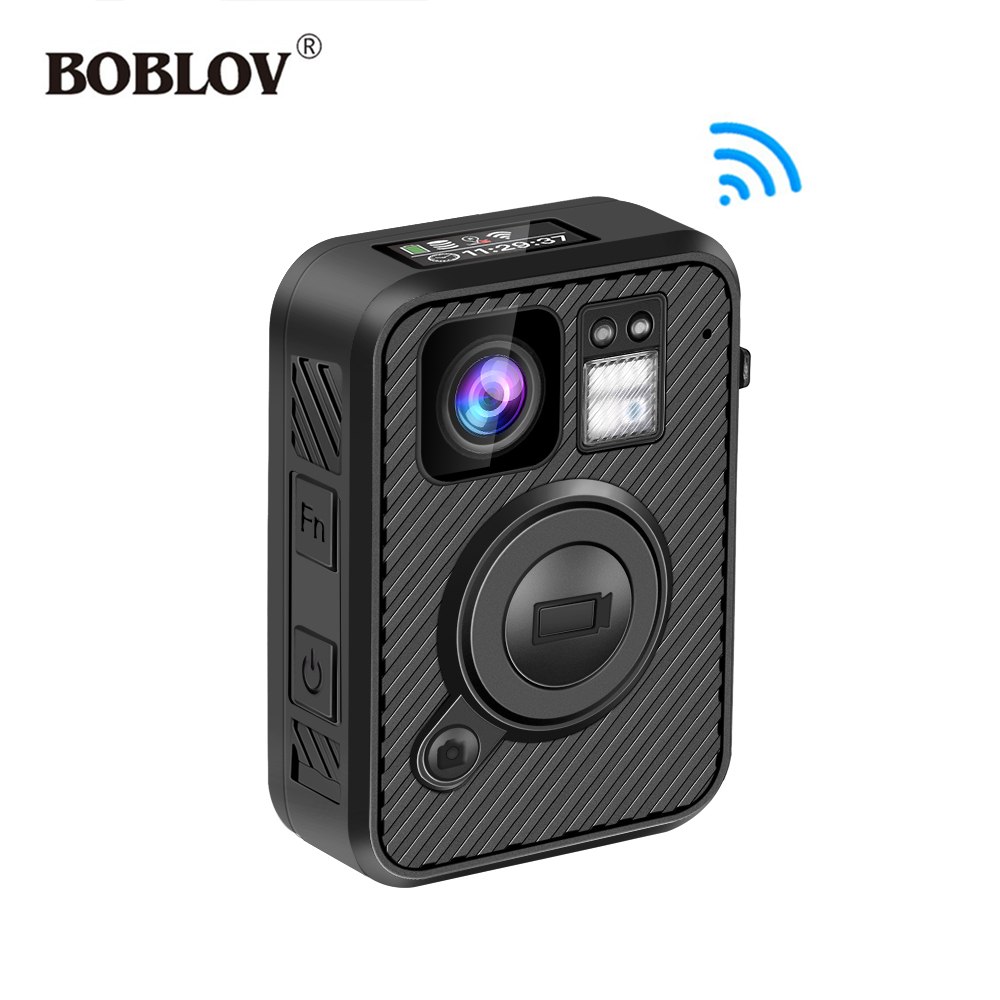 BOBLOV Police Camera Law Enforcement Night-Vision Recorder DVR Wifi 1440P F1 GPS 32GB/64GB