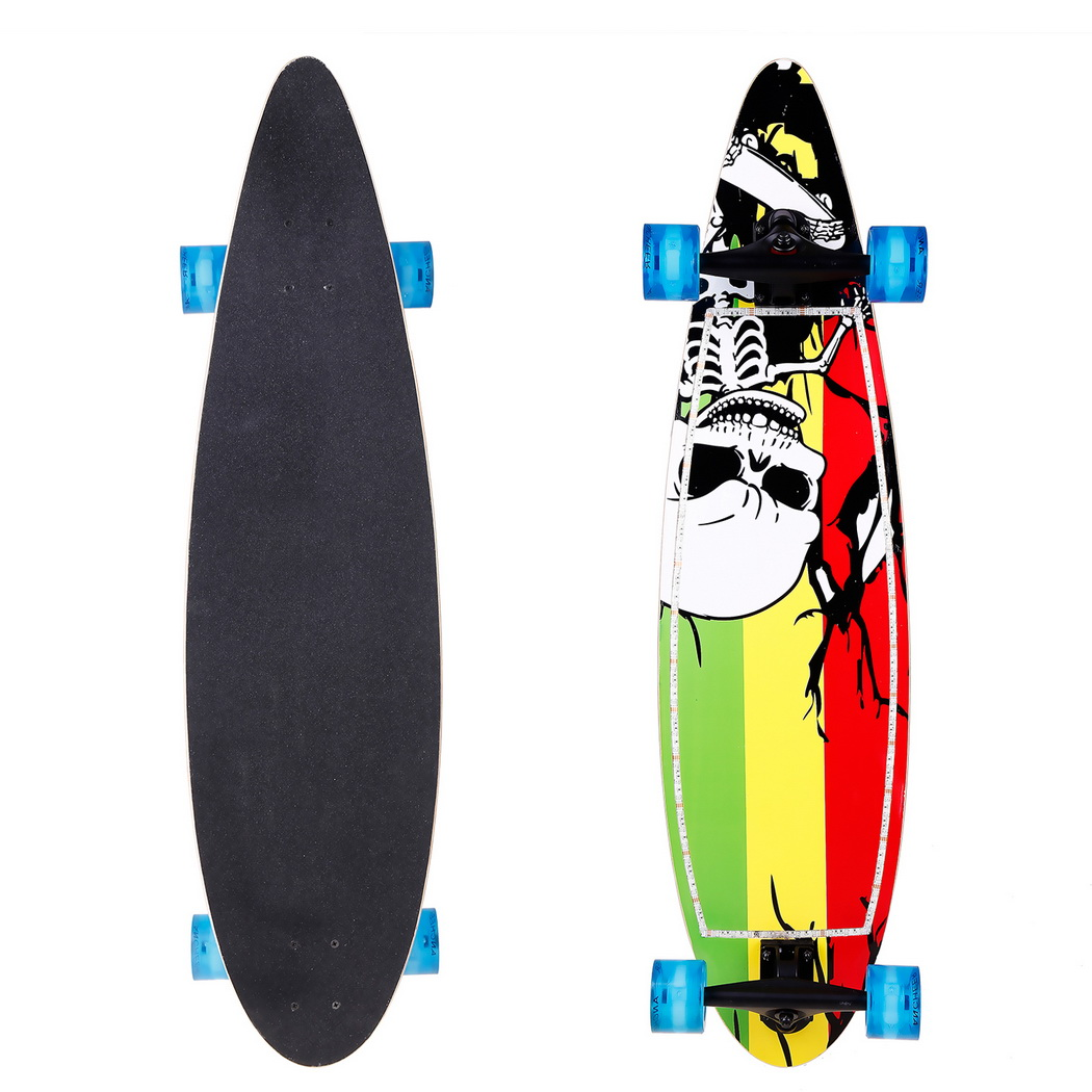 40 Inch Skateboard Wood Print Scooter LED Flashing Skateboard Kids Adult Longboards Matte Board Skate Board With LED Flashing