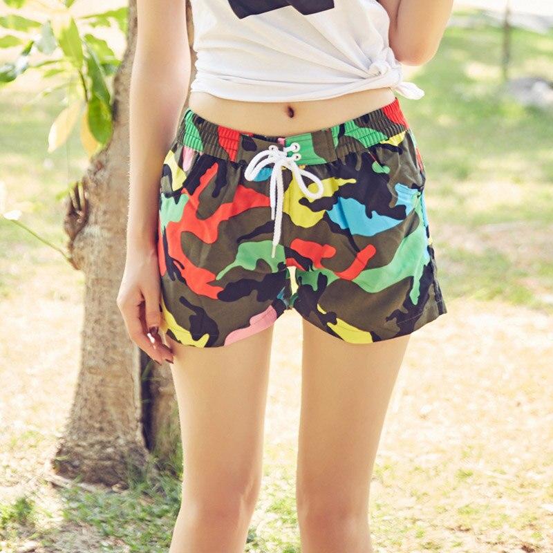 praia shorts para o sexo feminino leite