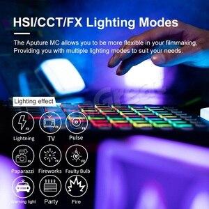 Image 5 - Aputure AL MC MC RGBWW Portable Film Light Full HSI Color Control 3200K 6500K CCT Control Mini RGB Light Sidus Link app