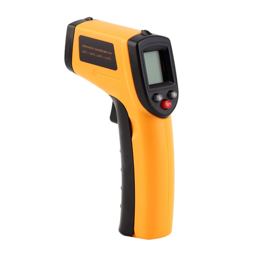 Non-Contact LCD Display IR Laser Thermometer Infrared Digital Temperature Meter Gun Point With Data Hold Function -50~330 Degree
