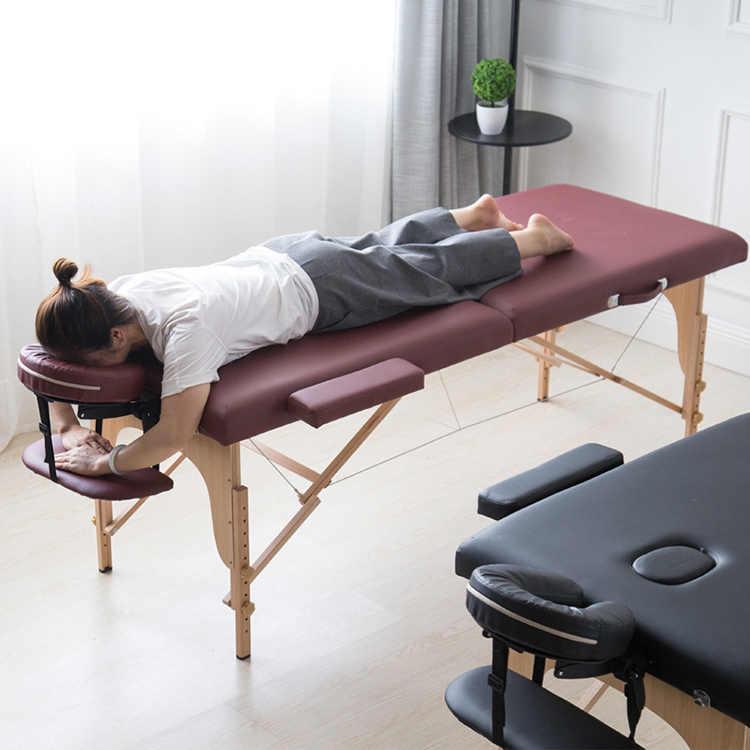 185*70cm katlanır masaj yatağı taşıma çantası ile profesyonel Spa güzellik masaj masaları taşınabilir Salon mobilya массажный стол