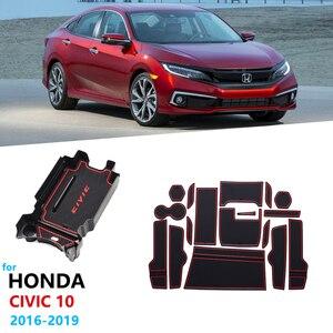 Автомобильные аксессуары для Honda Civic 10 2016 2017 2018 2019 FC FC1 FC2 FC5 FK4 FK7, слот для ворот, подстаканник, подлокотник, ящик для хранения