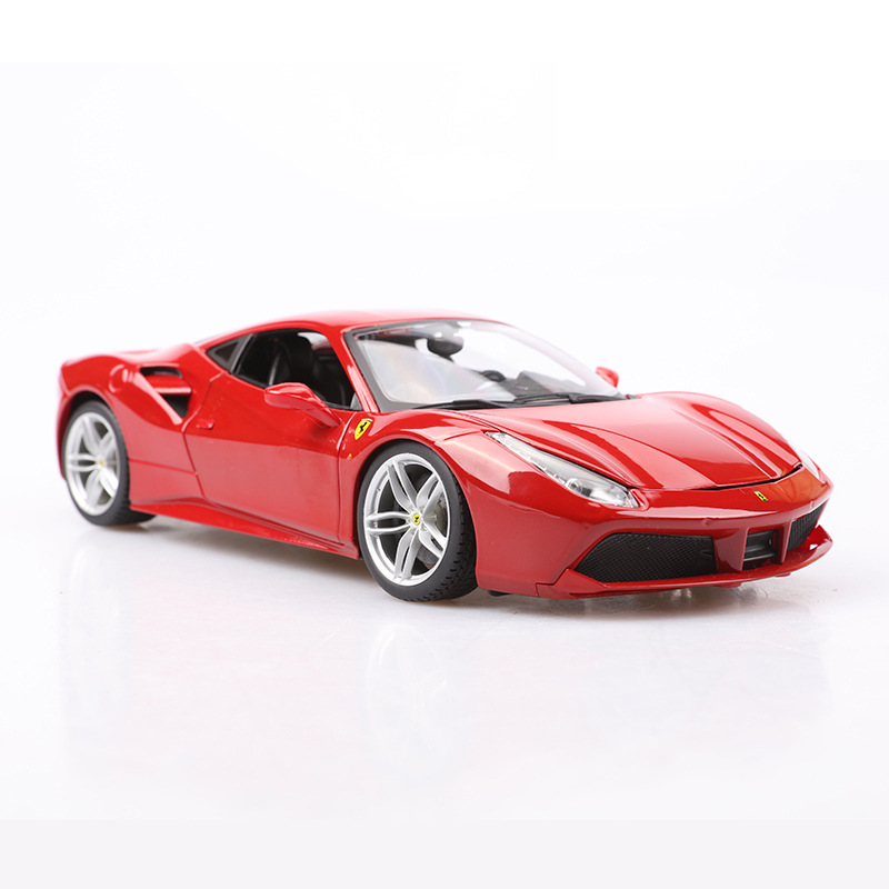 1/18 Alloy Ferrari 488 Gtb Car Model Red Ferrari Cars Collection Metal Miniature Diecasts & Toy Vehicles Car Toys For Boys