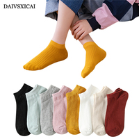 5Pair/lot=10pieces Female Summer Socks Cute Cartoon Boat Socks Cotton Woman Dimensional Small Ear Socks Ladies