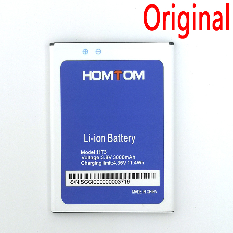 100% Original Battery For Homtom HT3 HT7 HT16 HT17 HT20 HT37 Pro Phone Latest Production High Quality Battery+Tracking Number(China)