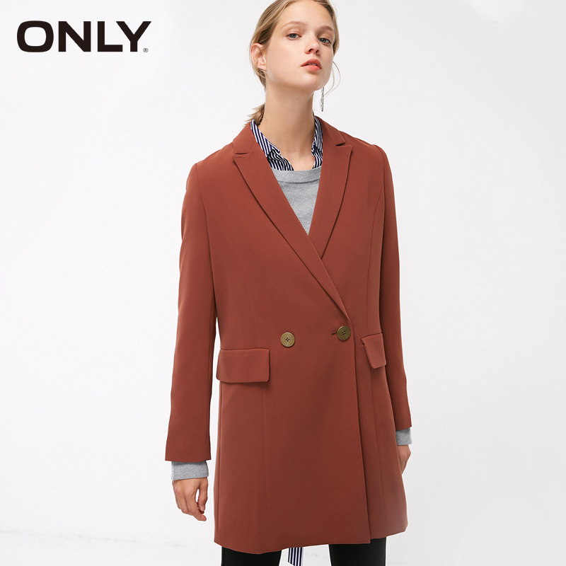 ONLY Autumn New Slender Retro Harbour Wind Suit Jacket Coat| 118308521