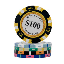 Poker-Chips Coins Casino Custom Clay Texas-Hold'em 40mm JIESITE 14g-Set Entertainment