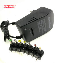 Universal power Supply adapter Multi 3V 6V 9V 12V Power Supply Adapter 3 6 9 12 V Volt Converter Cable 7 Plugs Adapters 3A 30W(China)