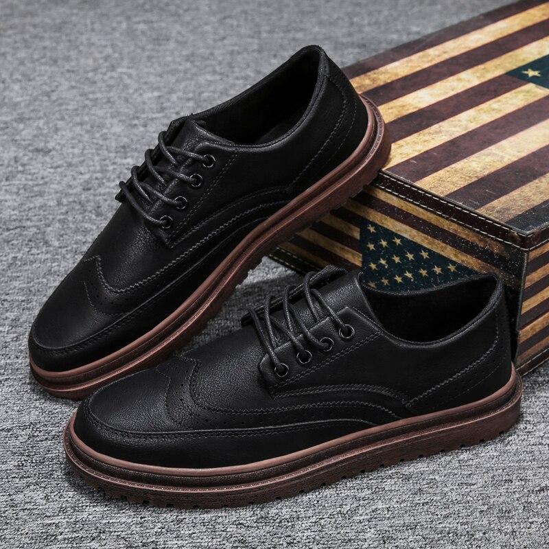 Новинка 2020, мужские повседневные Ботинки Martin в английском ретро-стиле из воловьей кожи, брендовая мужская обувь, модная уличная Мужская обу...