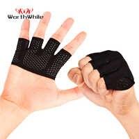 Lohnende Gym Fitness Halbe Finger Handschuhe Männer Frauen für Crossfit Workout Handschuh Power Gewichtheben Bodybuilding Hand Protector