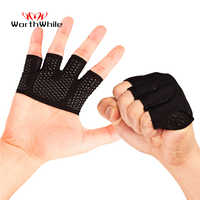 WorthWhile Gym Fitness Half Finger Gloves Men Women for Crossfit Workout Glove Power Weight Lifting Bodybuilding Hand Protector