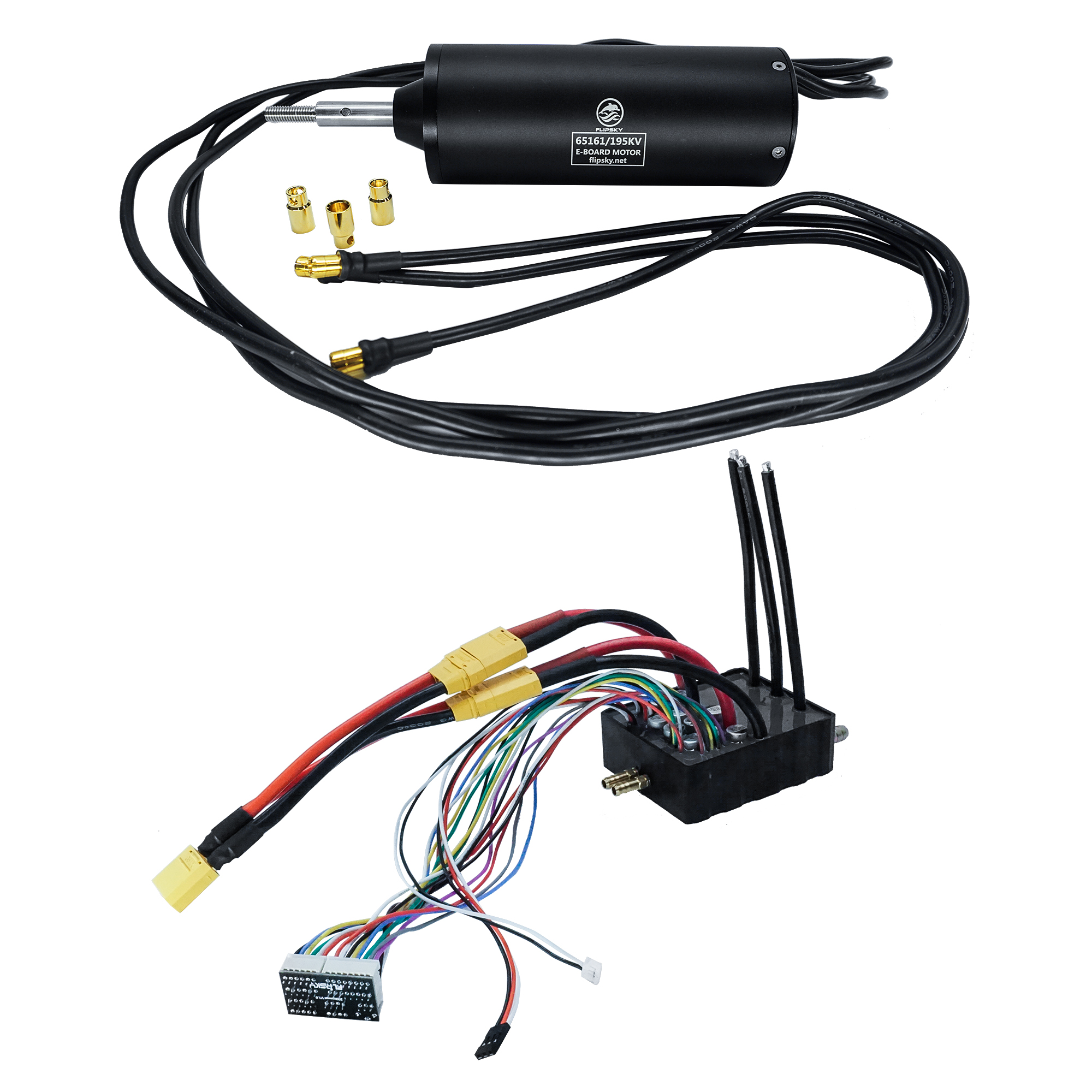 RC Boat Motor + Water Cooling ESC 200A Big Current DIY Complement Waterproof ESC Skateboard/efoil 12s Esc