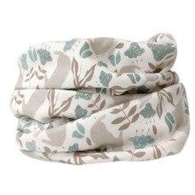 Осенне-зимний детский хлопковый шарф, теплый шарф для маленьких детей, шарфы для мальчиков и девочек, детский шейный платок с круглым вырезом