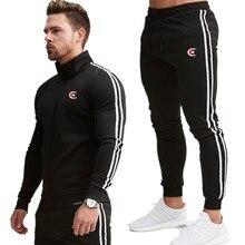 Men's Jacket + Pants Tracksuit Male splice Long Sleeve red black Casual 2 Piece Set male pocket zipper design men Sportswear цена