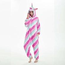 Зимняя цельная Пижама для взрослых Фланелевая комбинезон с капюшоном