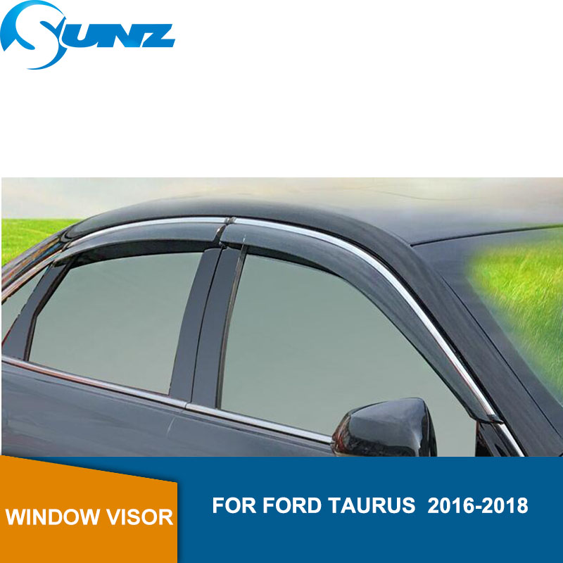 Car Window Deflector Visor For FORD TAURUS  2016 2017 2018 Winodow Visor Vent Shades Sun Rain Deflector Guard SUNZ-in Awnings & Shelters from Automobiles & Motorcycles
