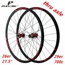 Пасак MTB горный велосипед 26/27.5/29 дюймов колесная через ось дисковый тормоз 24 часа в сутки 6 когти прямой тянуть 12 Скорость колеса 700C обод