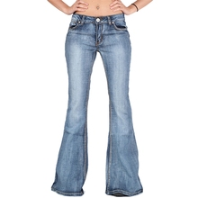 Women Flare Jeans Slim Denim Trousers Vintage bell bottom jeans autumn High Waist Pants Stretchy wide leg jeans plus size 4XL цены онлайн