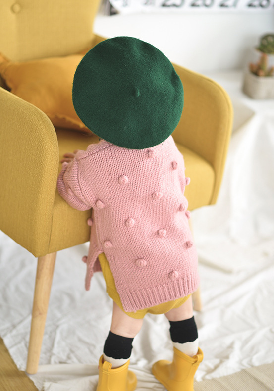 bebê camisola quente tricô sólido 3d bola