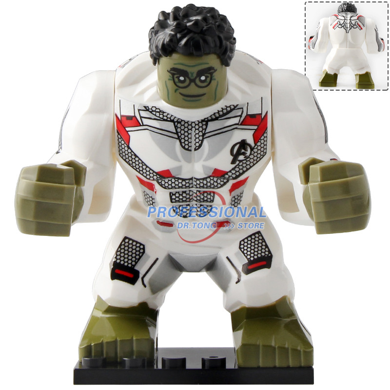 20pcs Big Size the Elementals Crocodile Hulk Iron Man Spider Man Super Hero Models Children Building Blocks Toys <font><b>XH1255</b></font>-XH1258 image