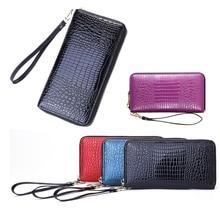 Women Wallets Long Multi-functional Alligator Wallet Purse Luxury Genuine Leather Female Clutch Card Holder Phone Luggage