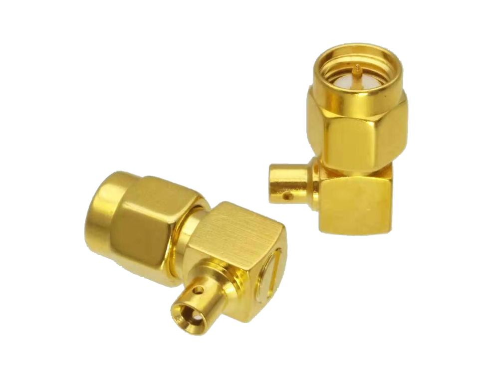 """50-Pack SMA Male Right Angle Solder Connector for 0.086/"""" RG405 Semi Rigid Cable"""