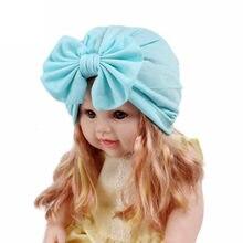 Boho Bow Knot opaska dla dzieci dziewczynek solidna zimowa ciepła wygodna czapka z daszkiem Turban czapka typu Beanie szalik opaska dla dziewczynki