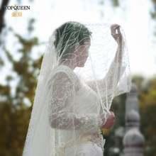 Topqueen v39 модная аппликация вальс свадебная вуаль Белый цвет