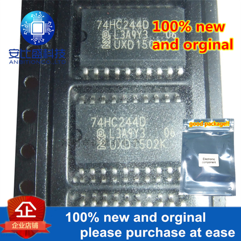 10pcs 100% New And Orginal 74HC244D SOP-20 Octal Buffer Line Driver; 3-state In Stock
