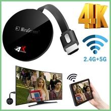 TV StickสำหรับAirplayสำหรับNetflixไร้สายสำหรับGoogle Chromecastจอแสดงผลรุ่นAnycas 4KสำหรับAndroid WiFi DongleสำหรับDvbสำหรับHdmi