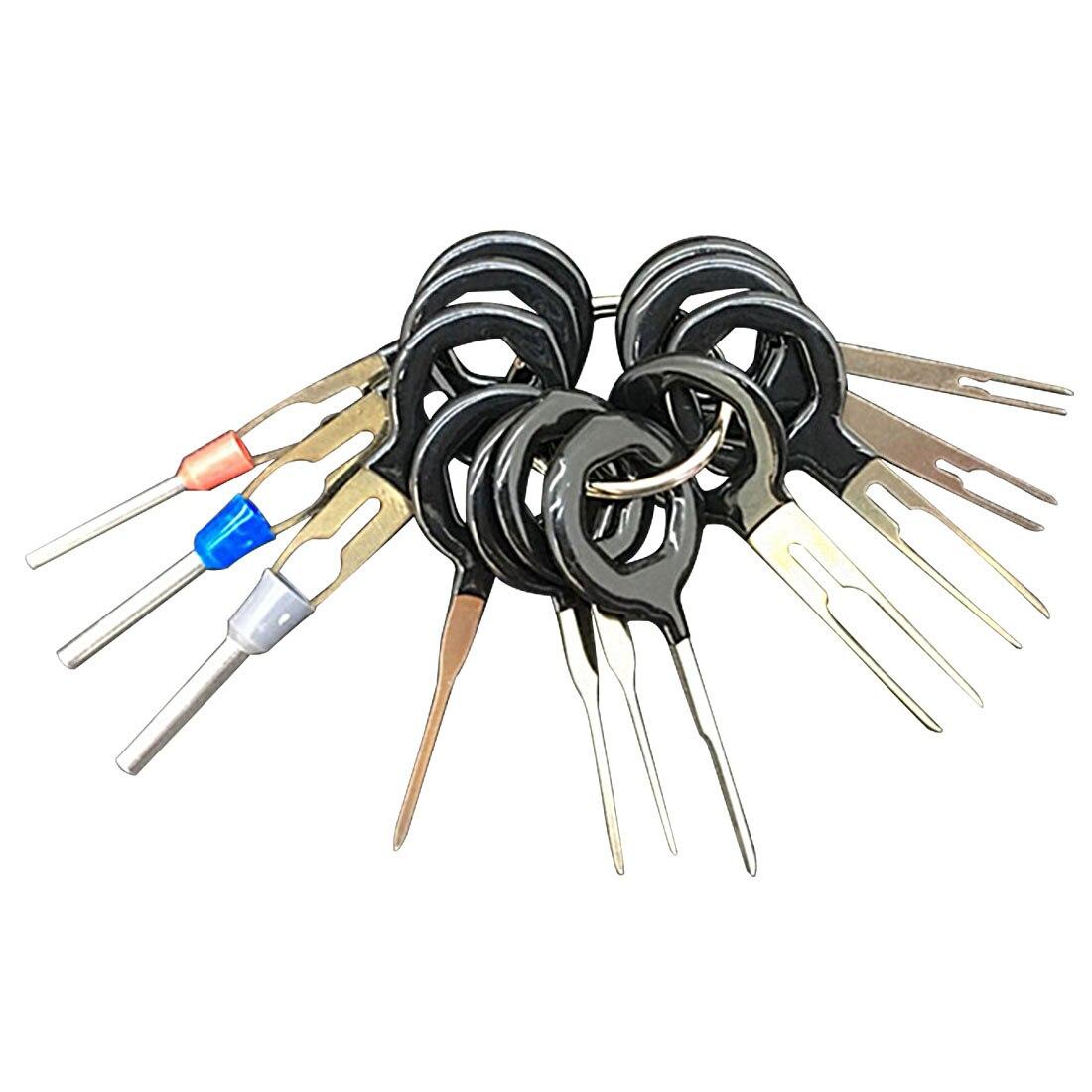 11Pcs/Set Terminal Removal Tools Car Electrical Wiring Crimp Connector Pin Extractor Kit Car Repair Hand Tool Set Plug Key