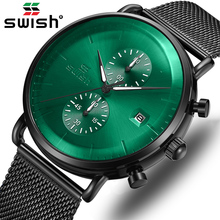 Mens Watches Top Brand Luxury Fashion Automatic Chronograph Watch for Man Water Ghost Green Sports Wrist Watch Date Reloj Hombre