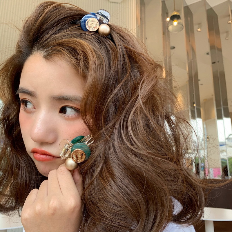 Korean Sweet Mini Round Pearl Hairpins For Women Girls Hair Claw Barrettes Hair Crab Clips Styling Make UP Tool Hair Accessories Hair Jewelry  - AliExpress