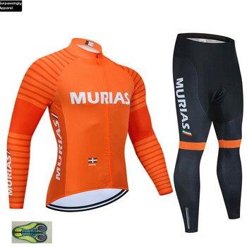2019 UCI equipo Moria naranja Ciclismo Jersey 20D almohadilla bicicleta pantalones Ropa...