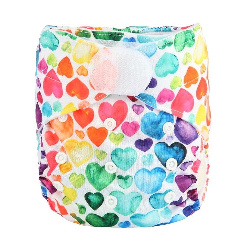 [Sigzagor] 1 тканевый подгузник с карманами для детей, подгузник с застежкой-липучкой, с широкими полосками на талии - Цвет: DV23