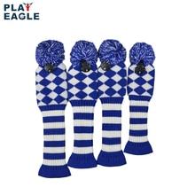 4psc/set couverture de tête de Club de Golf en tricot à motif abstrait pour conducteur bois (460cc), Fairway, hybride avec étiquette numérique