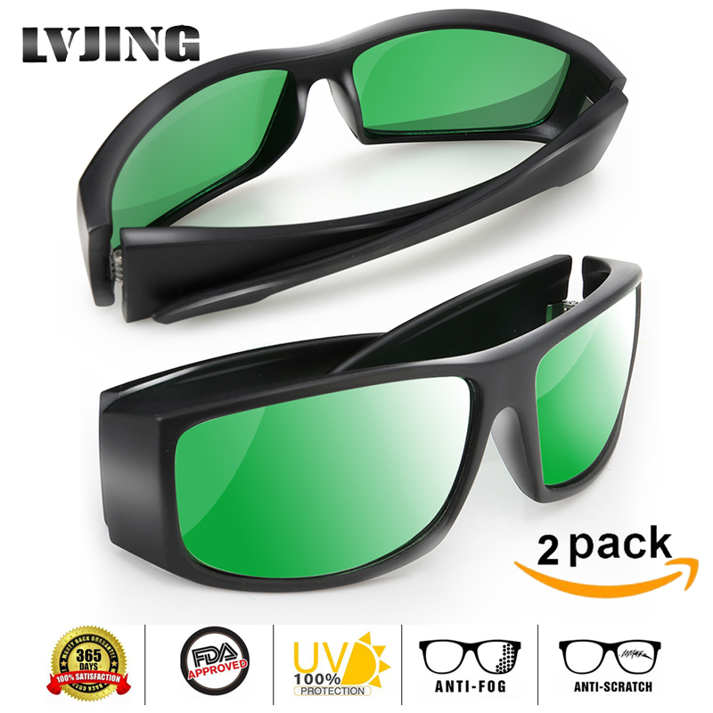 2 Pcs/lot LED Grow Light Glasses UV Polarizing Goggles For Grow Tent Box Greenhouse Hydroponics Plants Light Eye Protect Glasses